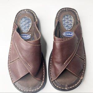 Dr Scholls leather Sandals size 7.5 men's
